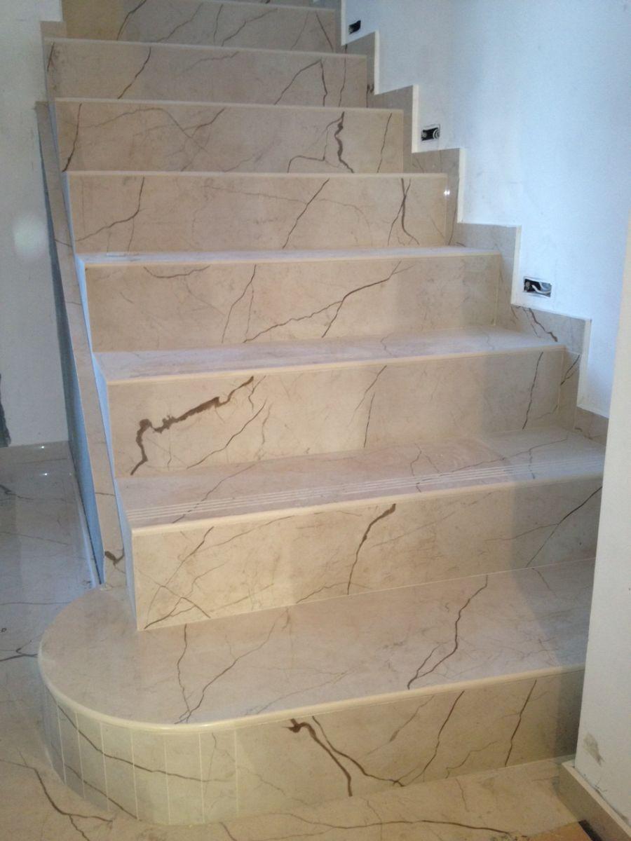 прямые ступени из керамогранита для лестниц под мрамор