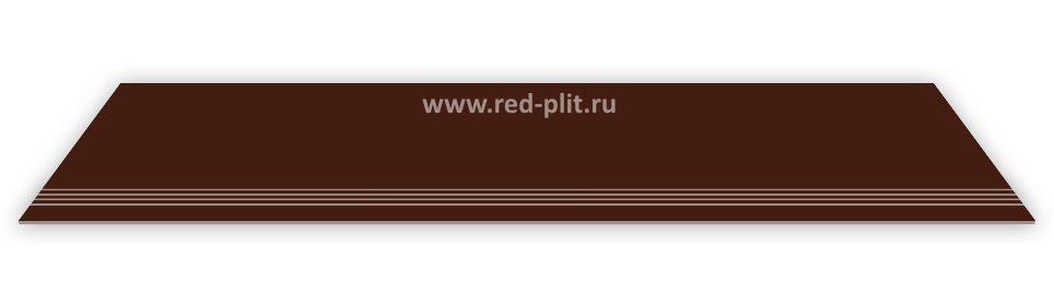 облицовка лестниц, ступени для лестниц, ступени из керамогранита, купить ступени недорого оптом, ступени со склада в Москве, ступень коричневая